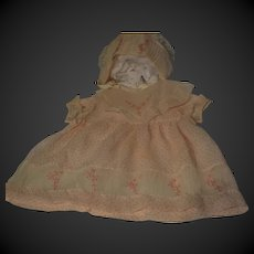 1930 Amazing dress and bonnet for your doll
