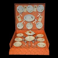 Antique French dinner set in presentation box