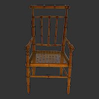 1880/1890 French faux bamboo seat