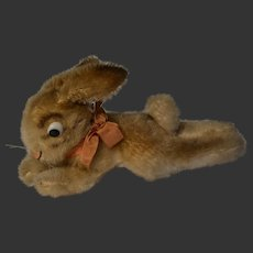 Lying rabbit steiff  plush mohair animal 1950