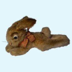 Lying rabbit steiff  plush mohair animal 1950