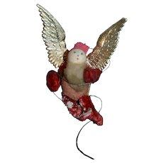 Christmas ornament decoration leprechaun angel circa 1920/1930