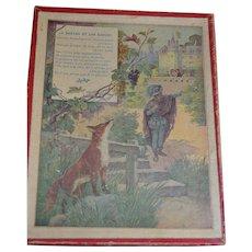 1900 French Puzzles fables DE LA FONTAINE