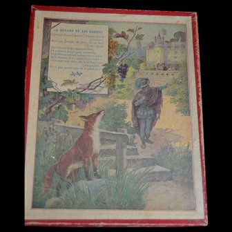 1900 French Puzzles fables DE LA FONTAINE