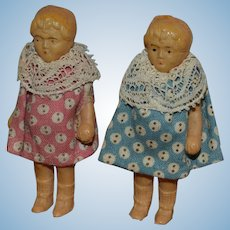 Adorable Tiny French celluloid dolls Rare Petitcolin