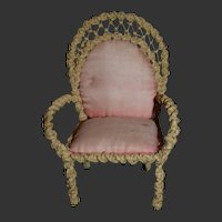 Antique circa 1880 armchair for you little doll