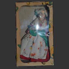RARE in original box Regional Doll by MAGIS ROMA representing a traditional costume of Italy