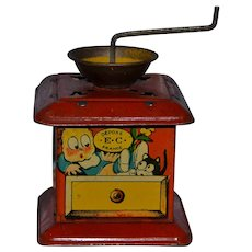 Wonderful French musical tin lithograph toy