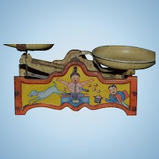 Kitchen scale tin lithographed toys