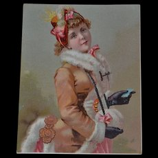 Lovely 1890 French trade lithograph