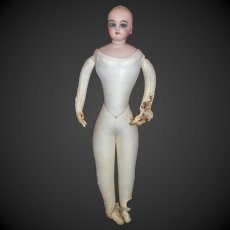 Adorable blue eyed fashion Jumeau doll , with the body damaged