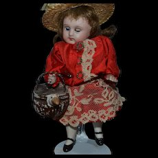 1900 Lovely rare  basket  for your doll's house