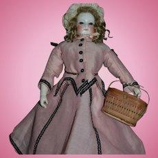 Antique rare model of doll basket