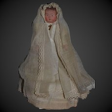 1st communion souvenir candy box  French celluloid doll from France 1930