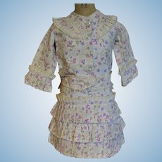 French 1880 type bebe dress