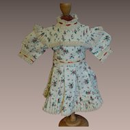 Lovely Jumeau Type dress wonderful sewing work