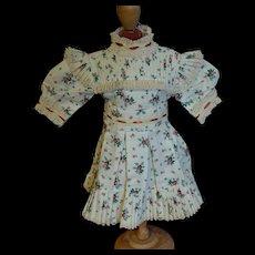 Lovely Jumeau Type dress wonderful sewing work