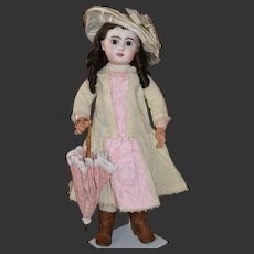"Fabulous 26""  Open mouth brown eyes Jumeau doll"