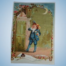 1890/1900  3 French colored engraving charming child scenes
