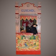 """26"""" Rare size guignol theater from france 1900"""