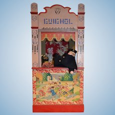 "26"" Rare size guignol theater from france 1900"