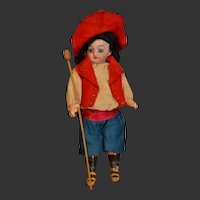 Wonderful French mignonette little boy in french cowboy outfit
