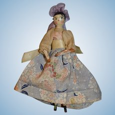 Lovely Grodnertal doll from Germany 1850/1860 for your dollhouse