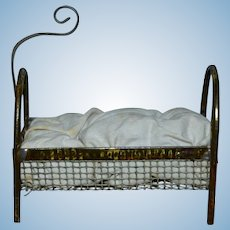 Charming tiny bed 1880/1890 tiny bed for your doll's house