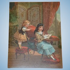 1875/1880 French charming lithograph