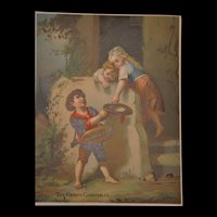 Charming French victorian period child lithograph