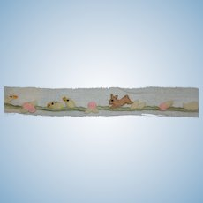 Charming embroidered trim for your doll's dress