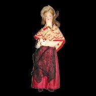 French cloth regional doll 1890/1900