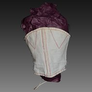 Rare french antique corset for fashion doll