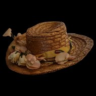 Nice antique straw hat for doll