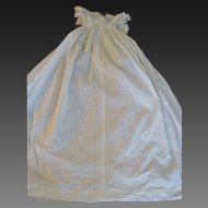 French Napoléon III christening gown  with soutache circa 1865/1870