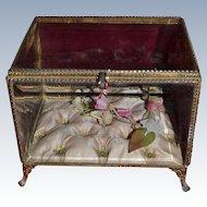 Antique French ormolu wedding vitrine