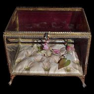 Antique French ormolu wedding vitrine