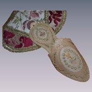 Genuine antique paper lace shoe