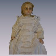 Poured wax shoulder head English doll