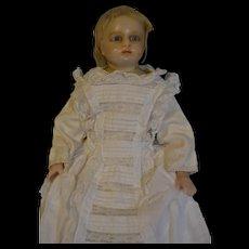 Poured wax shoulder head English doll