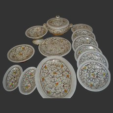 French porcelaine dinner set for your doll