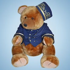 Wonderful size RITZ boutique Paris teddy bear in doorman outfit