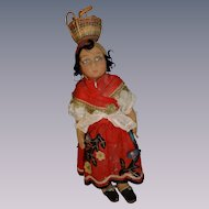 "17"" Pretty  Lenci type felt doll in original outfit"