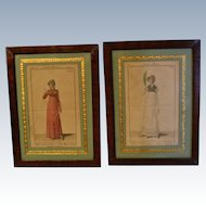 Delicious pair of French fashion engraving Circa 1810/1811