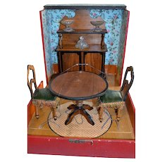 Wonderful French furnitures set 1880 for little doll - Red Tag Sale Item