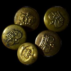Four + one tiny buttons for your dress, victorian period