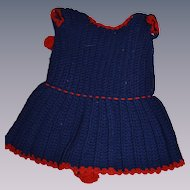 1880 Hand-knitted dress for French bebe