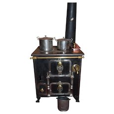 Wonderful french  cast iron stove 1870/1880 the most fabulous model - Red Tag Sale Item