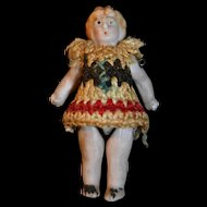 Tiny all bisque doll from Germany 1900/1910