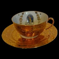 First communion souvenir by Limoges chocolate cup